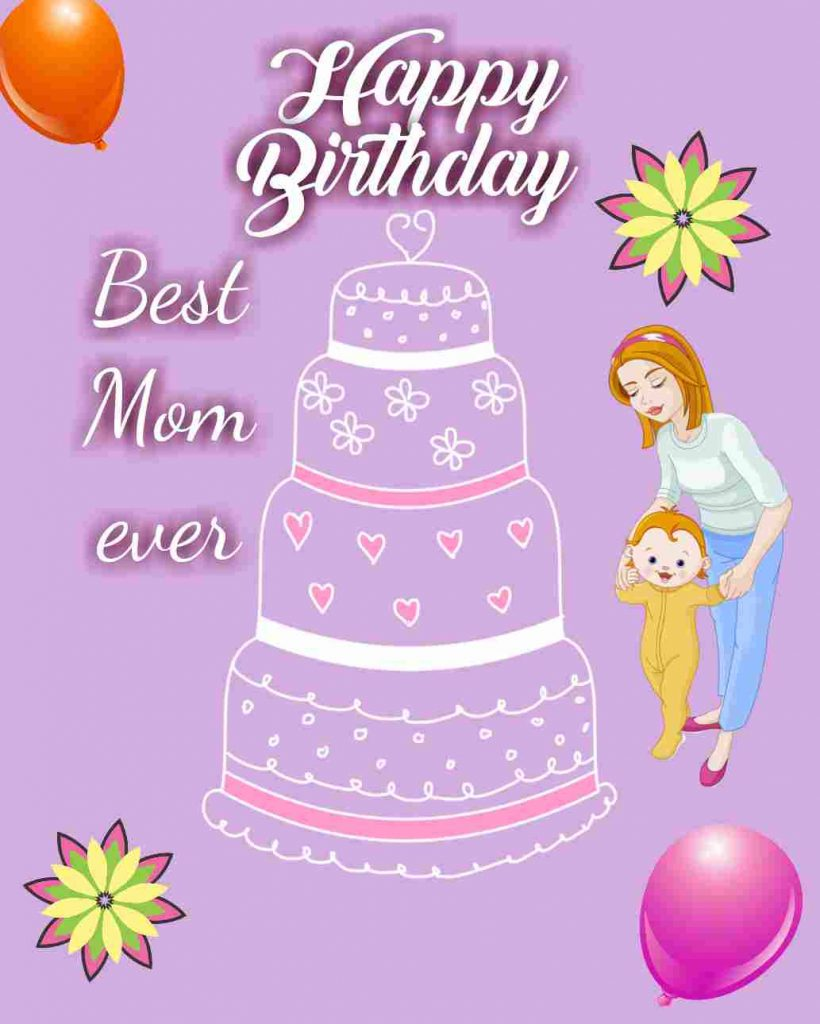 happy birthday mom from daughter images