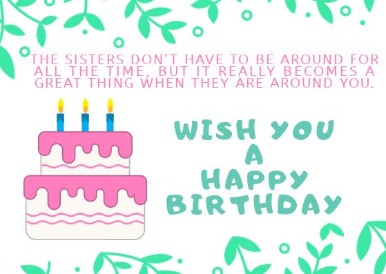 BIRTHDAY WISH SISTER PICS