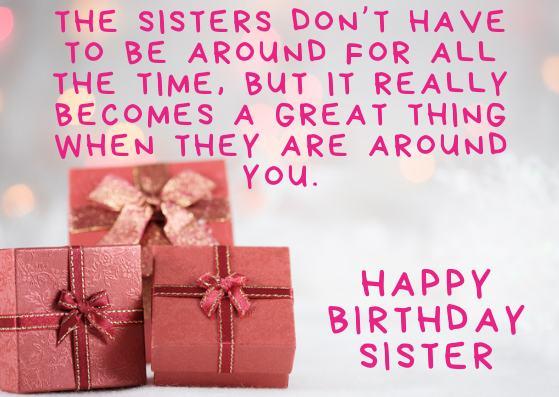 Dear Sister Happy Birthday