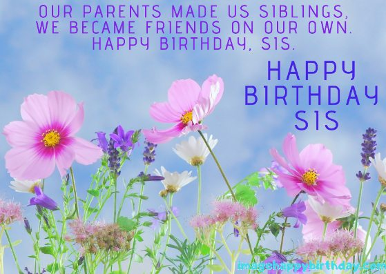 Wishing Sister on Special Day