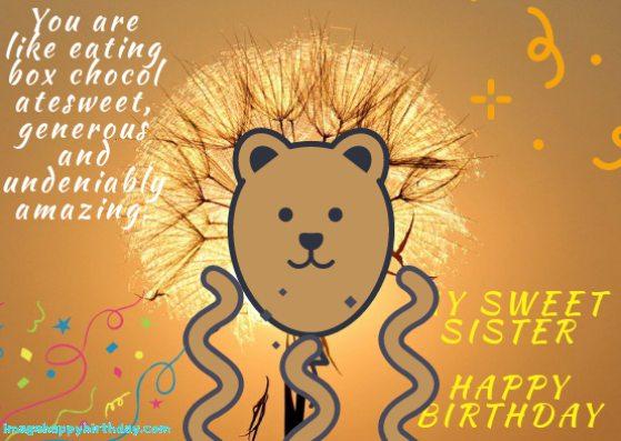 best birthday sister image